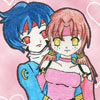 An adorable pic of Megumi and Ryouga~